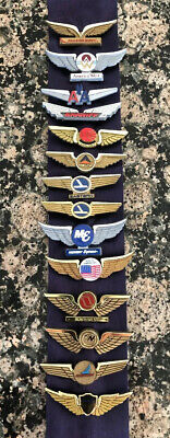 14 All Different Junior Future Pilot Wings Eastern Allegheny Republic Braniff ++