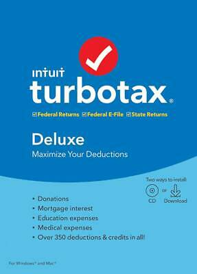 TurboTax Deluxe Federal + State 2019 - Mac|Windows