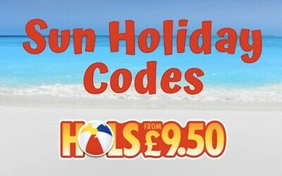 * LAT * SUN HOLIDAY 2020 - All 10 codes to book Sun £9.50 Holidays - See Note