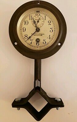 Antique Working 19th C. Boston Clock Co (Chelsea) Car Auto Steering Column Clock