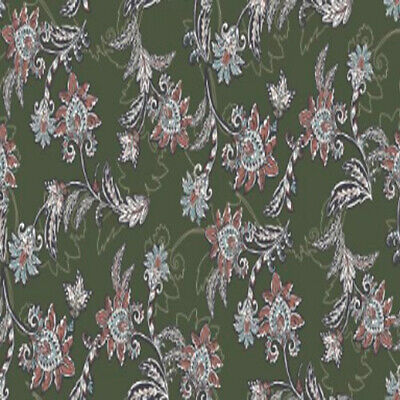 Large Floral Printed on French Terry Fabric by the Yard  - Style P-02-596