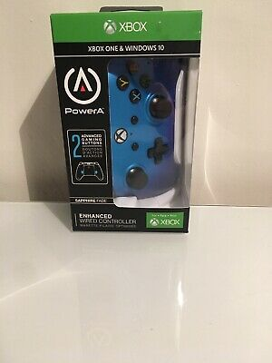 PowerA Enhanced Wired Controller for Xbox One/Windows 10 (Blue) — NEW