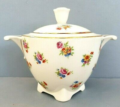 Antique Art Deco Period French Limoges D.r.b Lidded Sugar Bowl For Tea Coffee