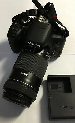 Canon EOS Rebel T7i DSLR with Canon 18-250mm Lens 24.2 MP Works Great!!