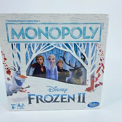 NEW Frozen II Monopoly board game 8yrs+ Disney Hasbro