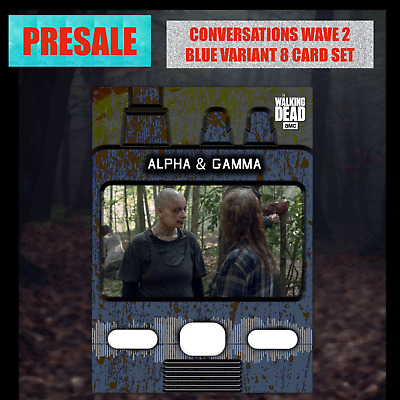 PRESALE CONVERSATIONS WAVE 2 BLUE 8 CARD SET Topps WALKING DEAD DIGITAL TRADER