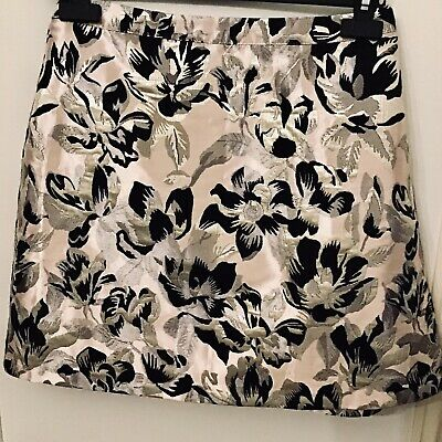 BRAND NEW WIth Tags Miss Selfridge's Short Skirt Size Uk 14 Pink Metallic