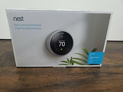 Nest Learning Thermostat 3rd Generation + Temperature Sensor Bundle (5)