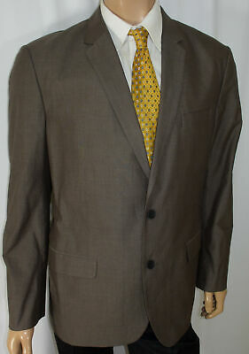 44R DKNY Blazer - Men 44 Brown 2Btn Suit Jacket Sport Coat