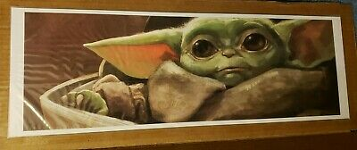 Star Wars The Child Baby Yoda Mandalorian Lithograph Woodside Poster Art Print