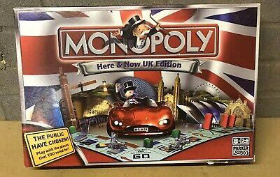 Monopoly Here & Now Board Game Uk Edition Parker 2007 100% Complete Vgc