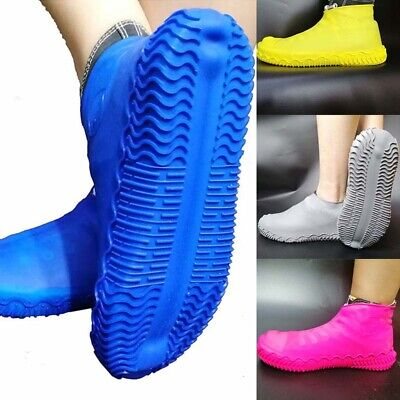 Silicone Overshoes Rain Shoe Covers Waterproof Antiskid Protector Recyclable S-L