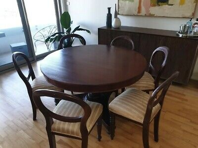 Antique Australian Cedar dining table and chairs - dining setting