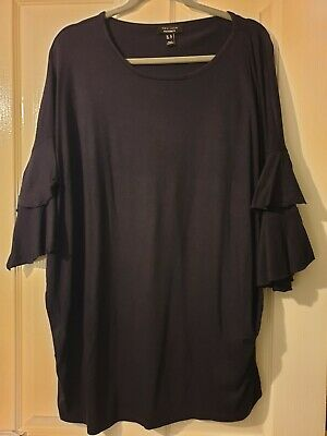 New Look Maternity Long Sleeve Top Navy size 18