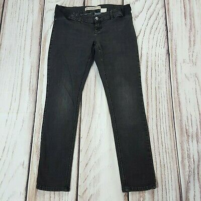 Next Relaxed Skinny Everyday Under Bump Maternity Jeans Dark Grey Size 12 R