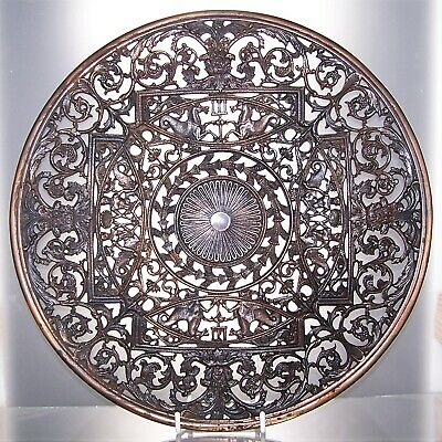 Large Victorian Mid 19th Century COALBROOKDALE Cast Iron Decorative Plate  29 cm