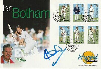 28 August 1997 Alderney Cricket Fdc Hand Signed By Ian Botham Shs