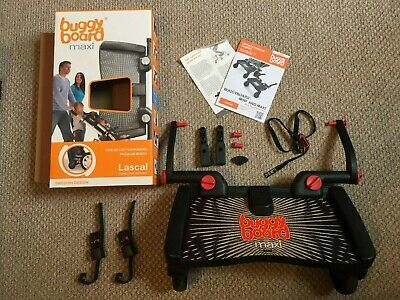 Lascal Buggy Board Maxi, uncut connectors, great condition with box