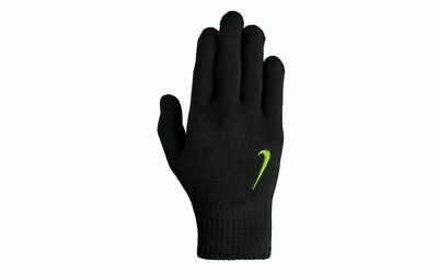 Nike Black Yellow Knit Football Running Gloves Kids Junior Youth