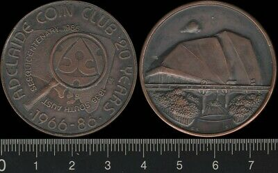 Australia: 1986 South Aust Sesquicentenary Adelaide Coin Club 20 Years medal