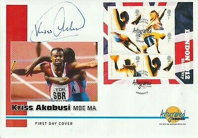 5 August 2005 Olympic Host City M/Sheet Fdc Hand Signed By Chris Akabusi Shs