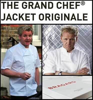 Bragard *Grand* Chef Jacket White Short Sleeve Gordon Ramsay - Rrp £180