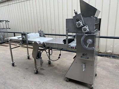 Lucks LVO dough sheeter roller with cookie cutting table Weidenmiller die cutter