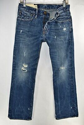Abercrombie Fitch Baxter Low Rise Slim Boot Mens Jeans Size 28x30 Meas. 29x30.5