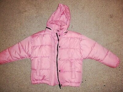 Girls Next Pink Hooded  Puffa Jacket Coat outfit clothes, age 6 years BARGAIN!