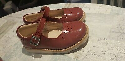 Clarks Crown Jump Berry Patent Mary Jane style shoe Baby Girls  UK 8C