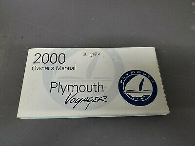 2000 Plymouth Voyager Owner's Manual