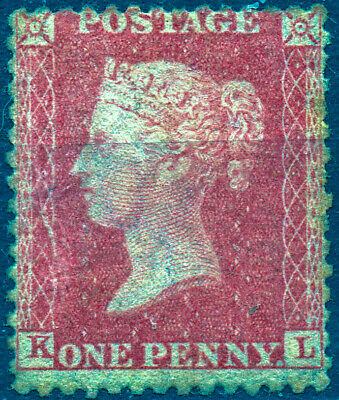1857 QV 1d Red Star Mounted Mint K-L C13 (Plate R16) Perf 14 Large Crown
