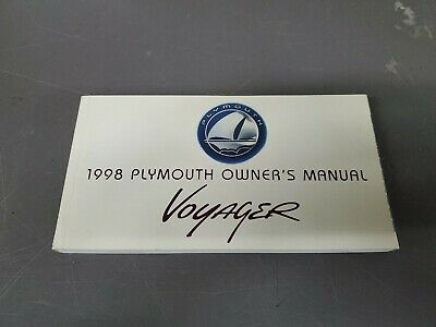 1998 Plymouth Voyager Owner's Manual
