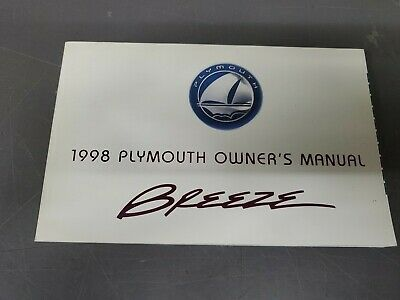 1998 Plymouth Breeze Owner's Manual