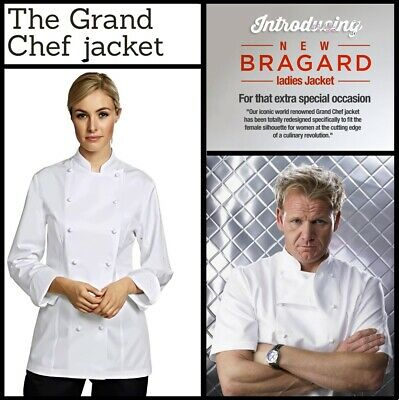 Bragard *Grand Chef Lady* Jacket White Womans Ladies Gordon Ramsay - Rrp £180