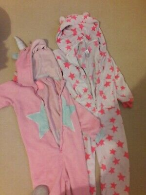 Two Girls Onesies Bundle (Not Gerber) Next+Tu- All In One Pink Stars Age 9 Years