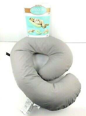 Leachco Snoogle Mini Compact Side Sleeper Pregnancy Pillow, Shadow Gray