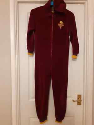 Harry Potter Gryffindor All-in-one Sleepsuit Pyjamas Age 9-10