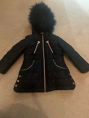 Ted Baker Girls Age 4 Coat - Navy RRP £65