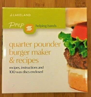 BNIB - Lakeland Quarter Pounder Burger Press Mould & 100 Waxed Discs