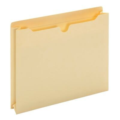 """Staples File Jackets with Reinforced Tab 1.5/"""" Expansion Ltr Manila 50//BX 119172"""