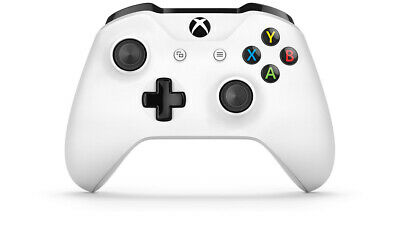 Official Microsoft Xbox One S Refurbished Crete White Wireless Controller +Cable