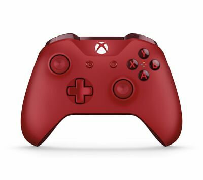 Official Microsoft Xbox One S Refurbished Red Wireless Controller + Cable UK