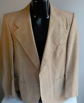 VTG YVES SAINT LAURENT Wool Blend Plaid 2 Button Blazer SZ 43R