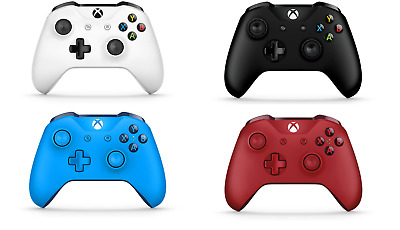 Official Microsoft Xbox One S Wireless Controller 3.5mm Jack Various Colours UK