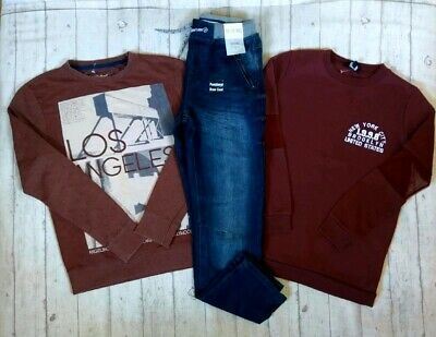 12 13 Years Bnwt Jeans New Look Jumpers Boys Trendy Winter Clothes Bundle