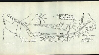 """MAP/CHART: """"MOUTH OF COLUMBIA RIVER"""" Soundings from June 1916 - Original"""