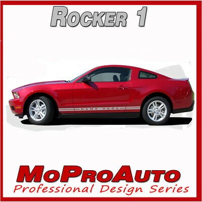 2005-2014 Mustang Lower Rocker Panel Stripes Factory Style Decal Graphics Text