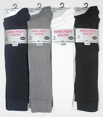 1-12 Pairs Ladies Womens Girls Cotton Knee High Socks Work Uniform School Lot