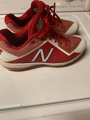 New Balance Size 8 Low-Cut 4040v4 Metal Baseball Cleat Mens Shoes Red with White